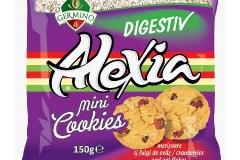 Alexia Minicookies vanilie, fulgi de ovaz si merisoare 150g